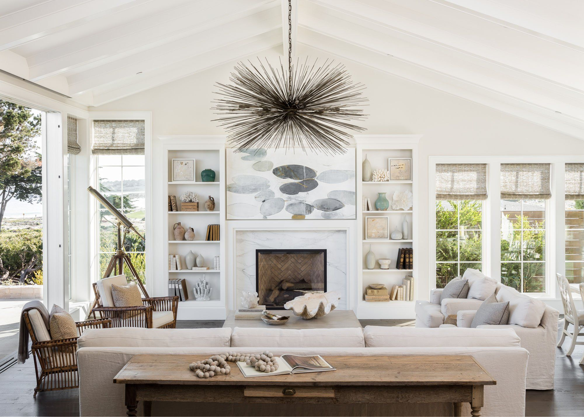 PEBBLE BEACH, CA | Home, Interior design, Spring living room