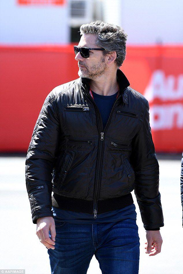 Actor Eric Bana At The Australian Motorcycle Grand Prix 2017 Eric