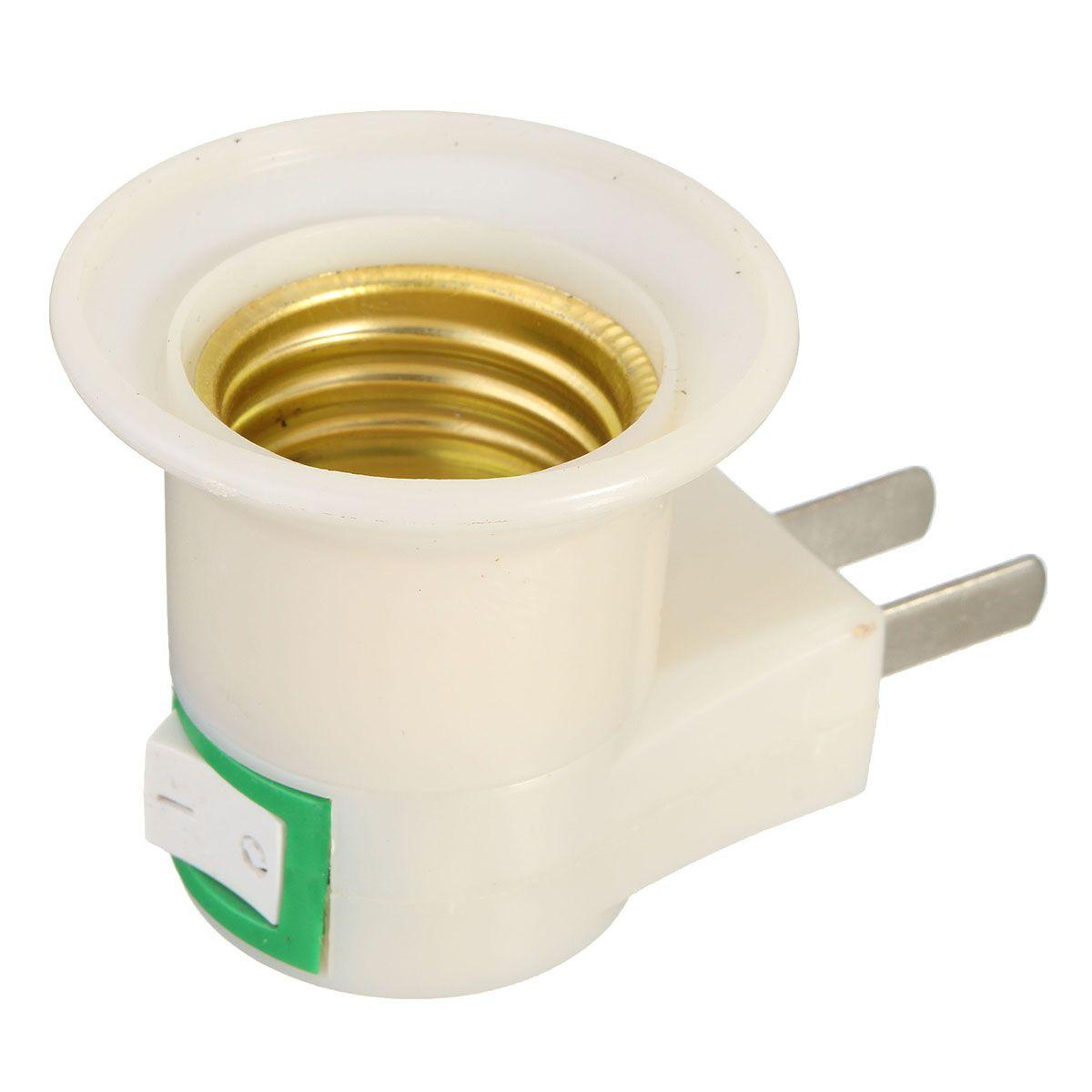 E27 Us Plug Bulb Adapter Converter For Lamp Holder With On Off Button Bulb Adapter Lamp Holder Socket Holder