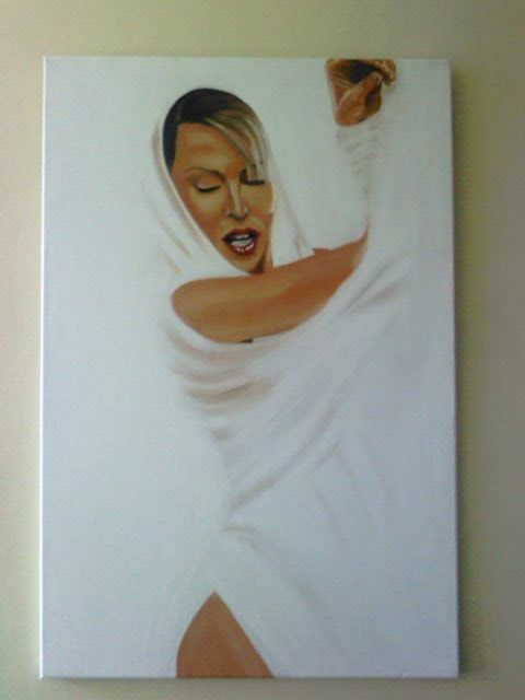 Kylie in oils on canvas.