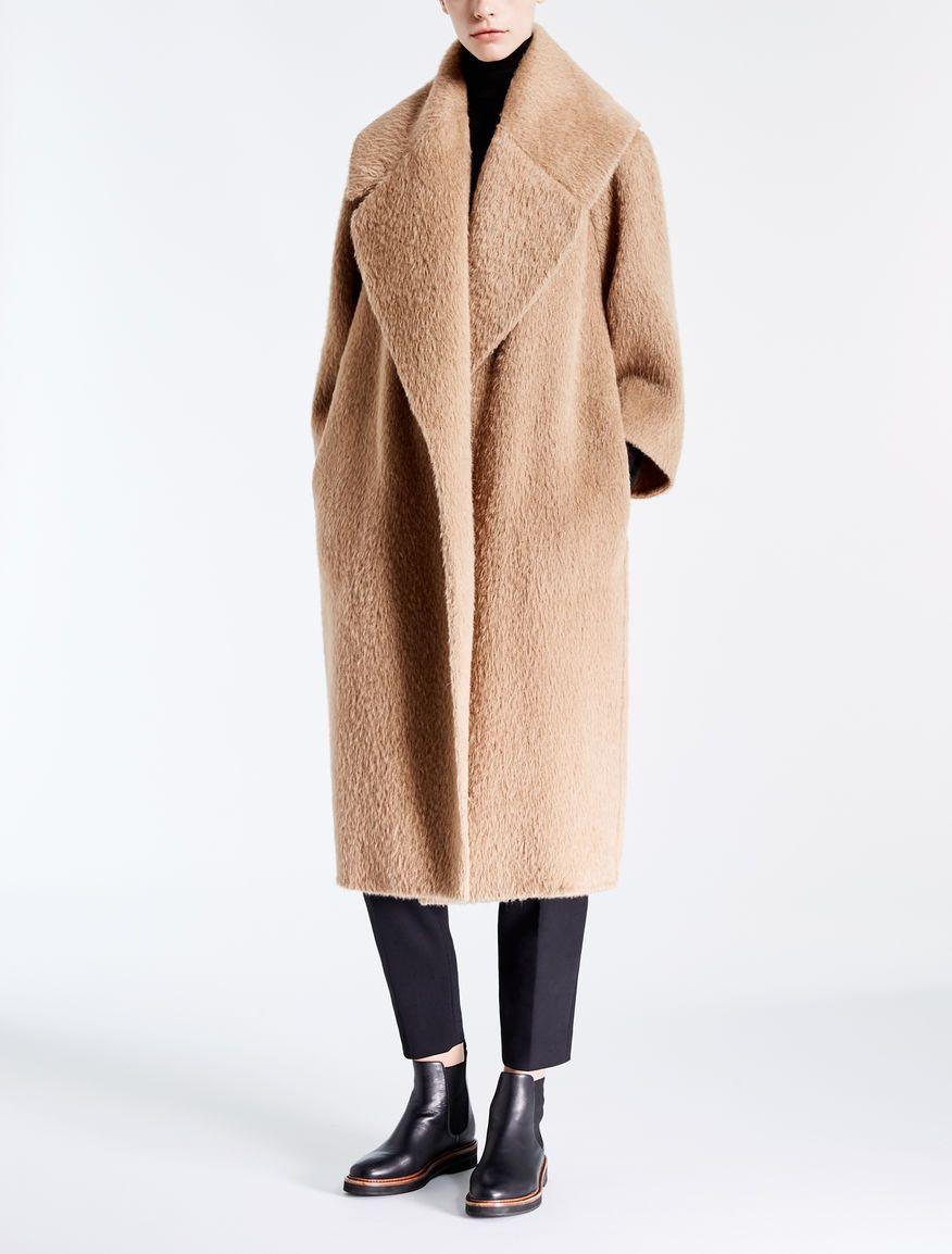 Max Mara EDO cammello  Cappotto in alpaca e lana.  f08c26416931