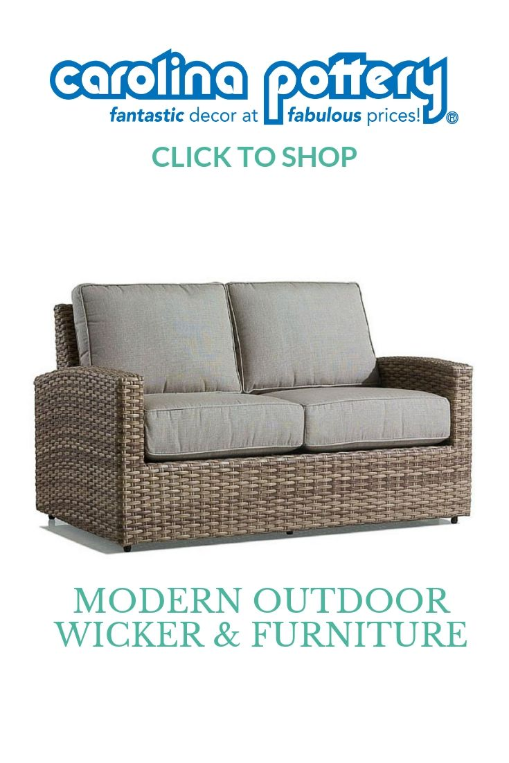wicker loveseat, outdoor living, patio furniture, modern ... on Outdoor Living Wicker id=29059