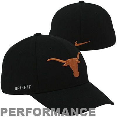 half off 0f41d 5a4a0 Nike Texas Longhorns Dri-FIT Swoosh Flex Hat - Black