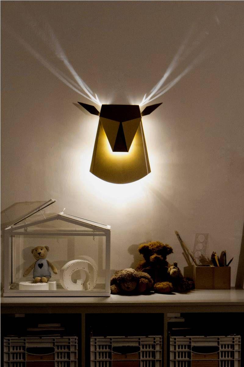 cool wall lighting. Deer-shaped Wall Lamp With Cool Antlers Light Effect \u2013 Popup Lighting | Home,