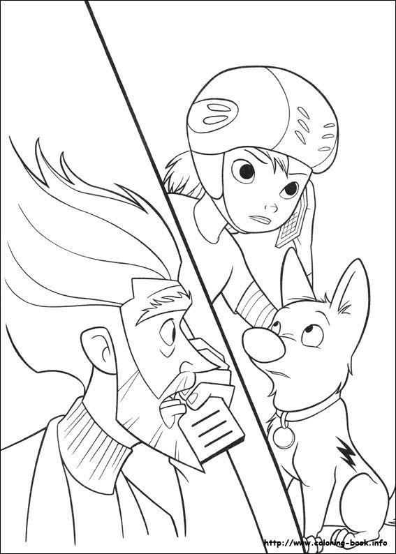 Bolt coloring picture | Disney Coloring Pages | Pinterest