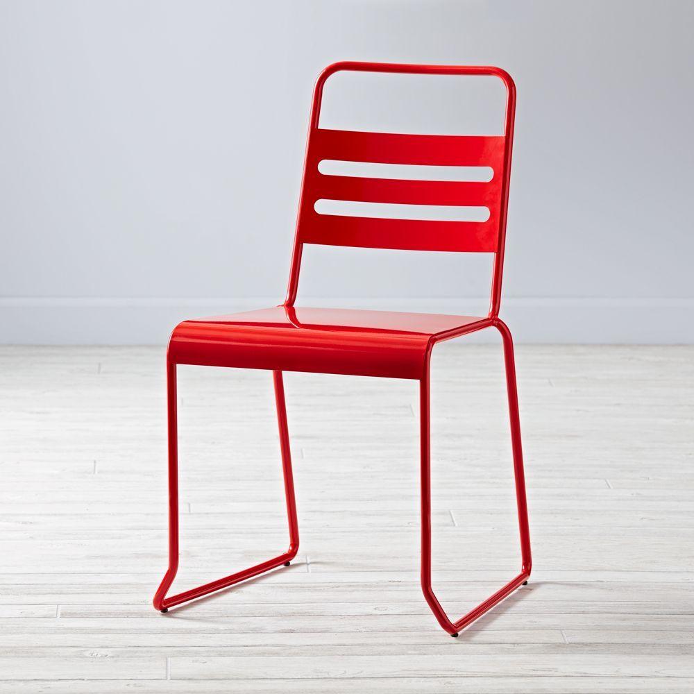 homeroom metal desk chair red products rh pinterest de