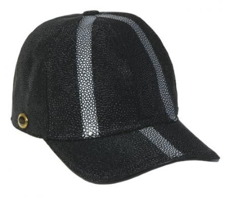 This #Los Altos #black genuine stingray #row-stone #Baseball #hat is