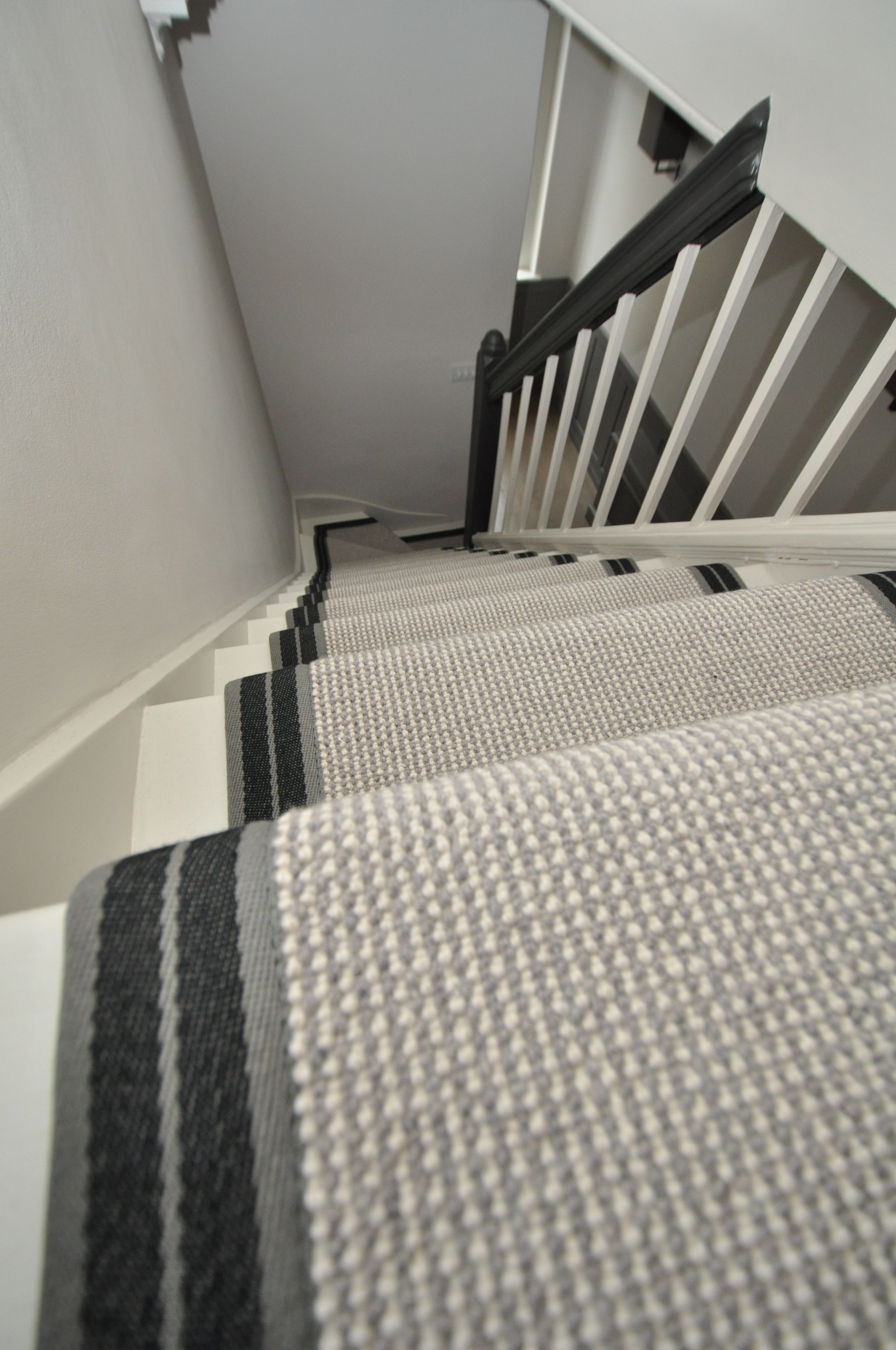 4 059 Wool Stair Runners Bowloom Wool Carpet Fitted Stair Runners With Stripe P Colour 2 Binding Tape Wool Stair Runner Stair Runner Wool Carpet