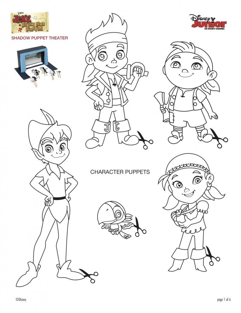 Coloring pages for jake and the neverland pirates - Jake And The Never Land Pirates Shadow Puppet Theater