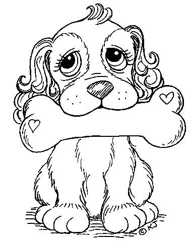 Puppy With Bone Love Coloring Pages Dog Coloring Page Coloring Pages