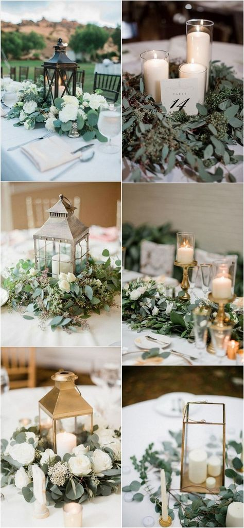 Top 15 White and Greenery Wedding Centerpieces for 2018 – Page 2 of 2