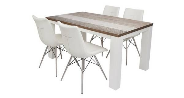 99900 Glaze Dining Extending Table & Set Of 4 Chairs Glaze  Dfs Fair Dfs Dining Room Furniture Design Inspiration