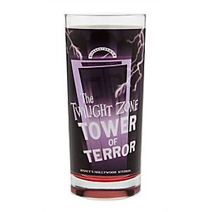 Disney's Hollywood Studios Glass Tumbler | Disney Store Two of Disney's Hollywood Studios' biggest stars feature on this glass tumbler. <i>The Twilight Zone Tower of Terror</i> is pictured on one side, while the other side spotlights <i>The Great Movie Ride</i>.