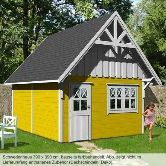 Joda Schwedenhaus 390x390 cm Haus, Gartenhaus bausatz