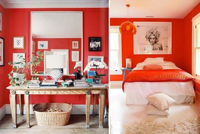 Tinteggiare le pareti in rosso: l'energia, l'allegria, il profumo di fragole e ciliegie...
