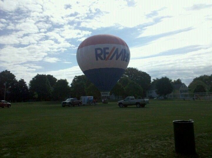 Remax hotair balloon at sito foundation field day! 2010