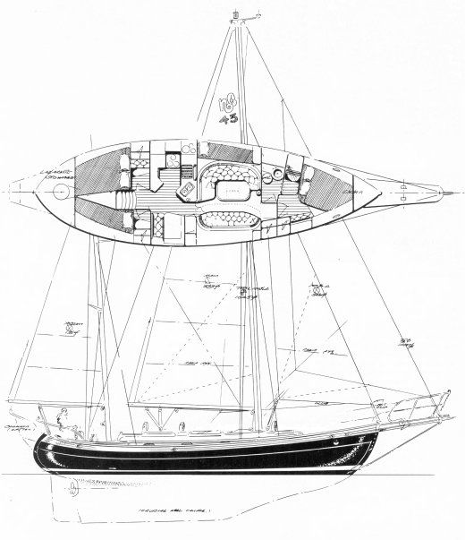 91fa6d46f5bb73e3c6580035f1ceb22d hans christian 43t hans christian 43t drawing on sailboatdata Simple Boat Wiring Diagram at n-0.co