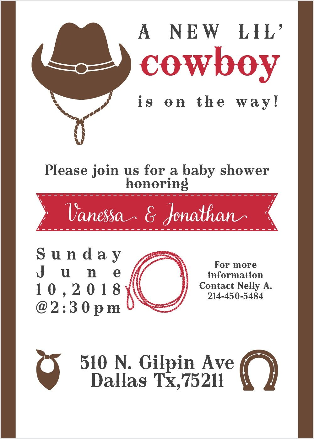 New Cowboy Baby Shower Invitations | Pinterest | Cowboy baby shower ...