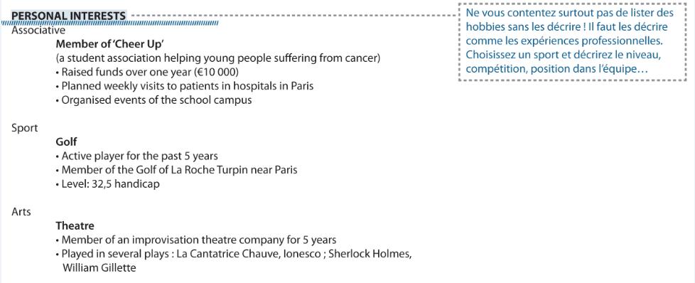 Centres D Interet Pour Cv Liste D Exemples De Loisirs Hobbies