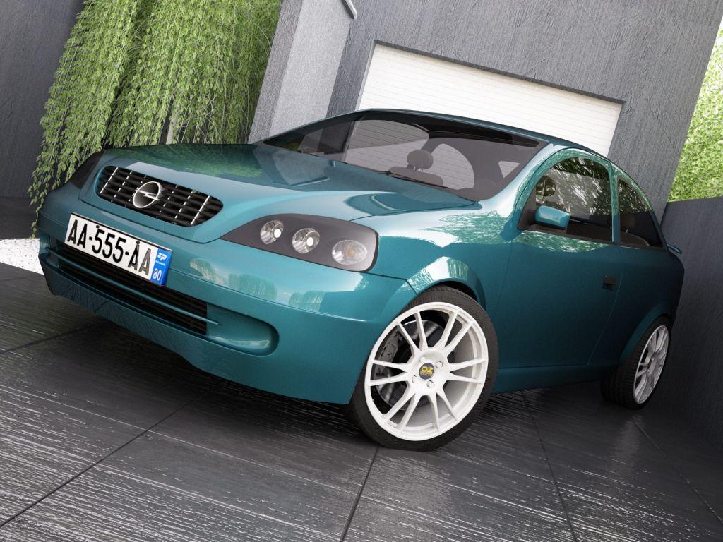 Opel Astra G 3d Model Opel 3d Model Model