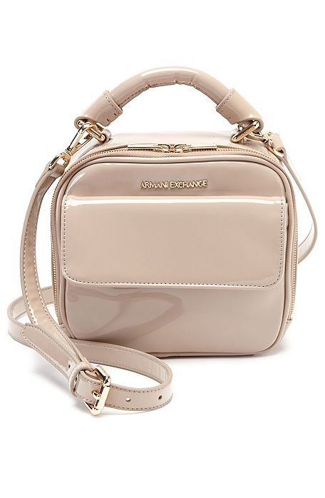 87ce902c3 Patent Small Crossbody Bag - Accessories - Womens - Armani Exchange ...