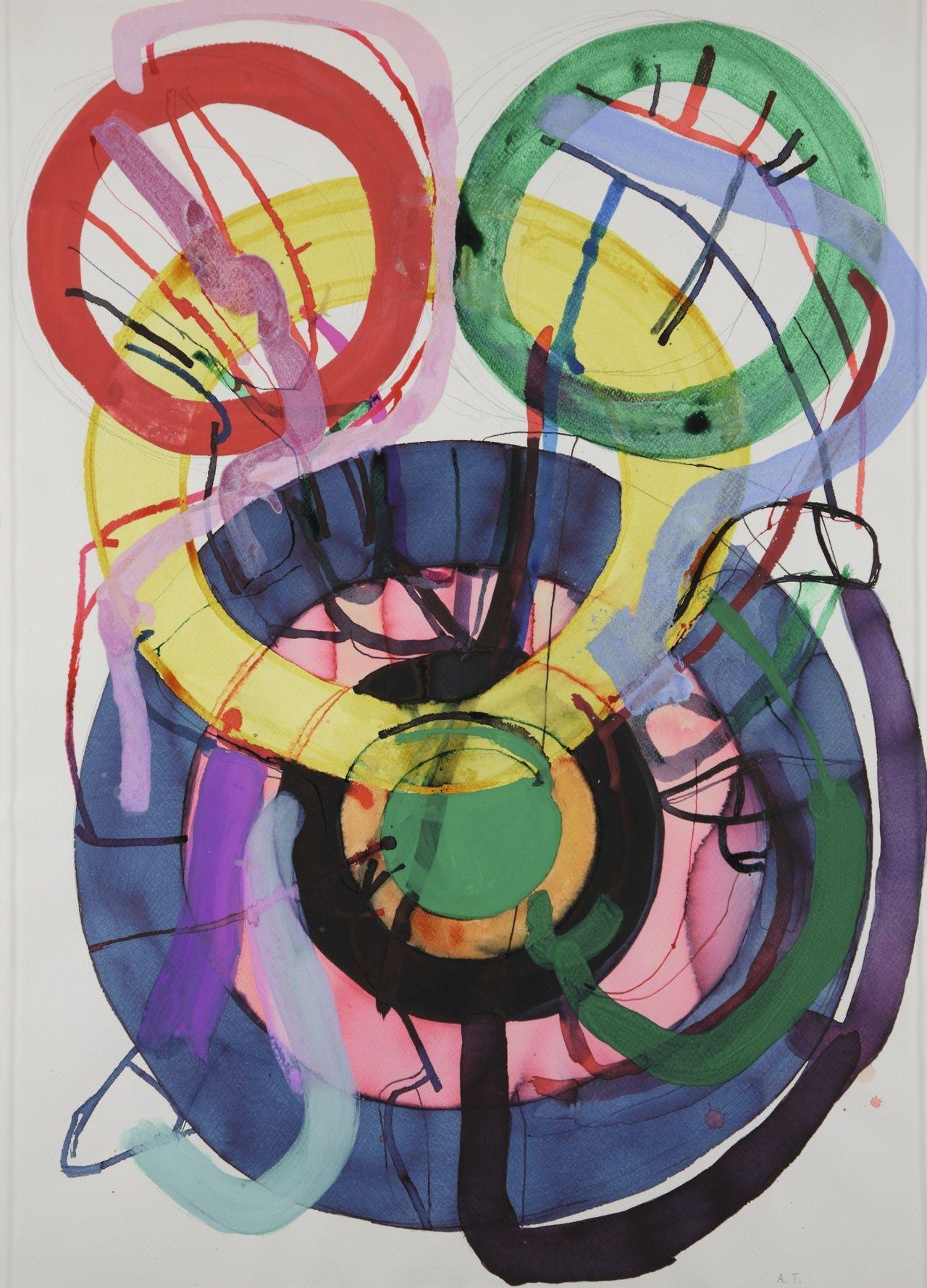 Atsuko Tanaka (19322005), Untitled, 1985, gouache, ink