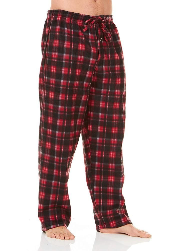 Long Lounge Bottoms Alexander Del Rossa Mens Warm Fleece Pajama Pants