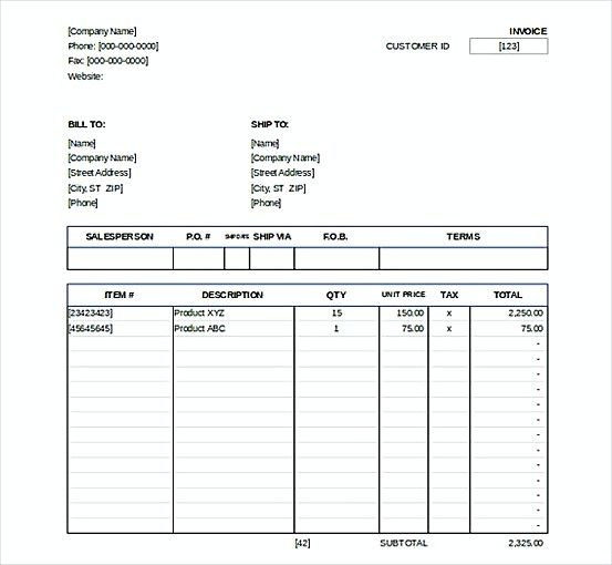 Downlodable Sales Invoice templatess , Microsoft Excel Invoice