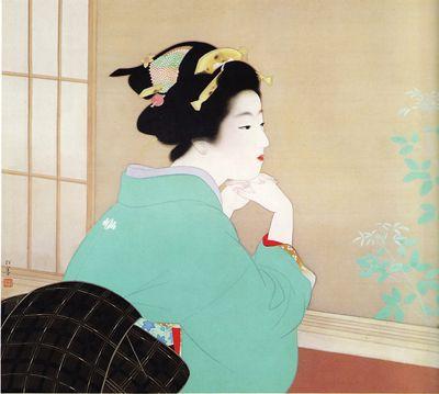 Arte Japonés, Young Leaves, Uemura Shoen