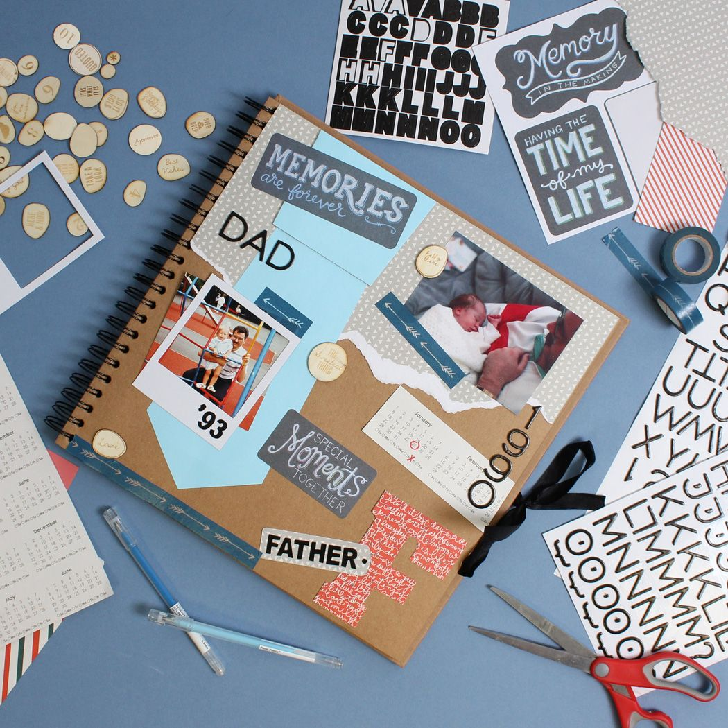 Scrapbook ideas newspaper articles - Two Scrapbook Layouts For Father S Day
