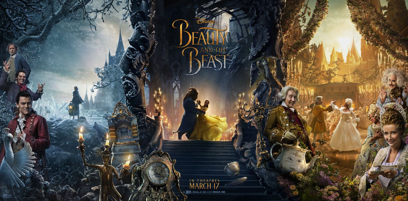 Kuvahaun tulos haulle beauty and the beast 2017 poster