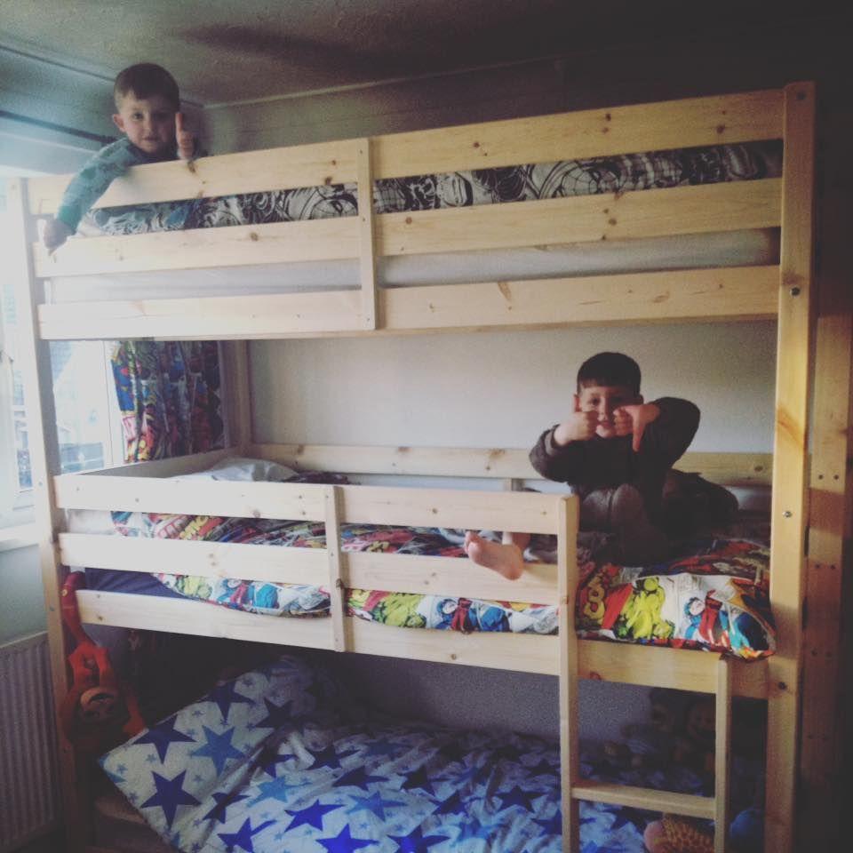 Best Pandora 3 Tier Triple Sleeper Pine Bunk Bed Bunk Beds 640 x 480
