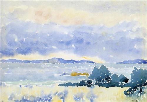 Land by the Sea - Henri-Edmond Cross