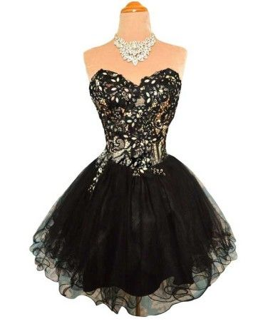 Cute Short Prom Dresses 2014 | ... short black puffy poofy prom ...