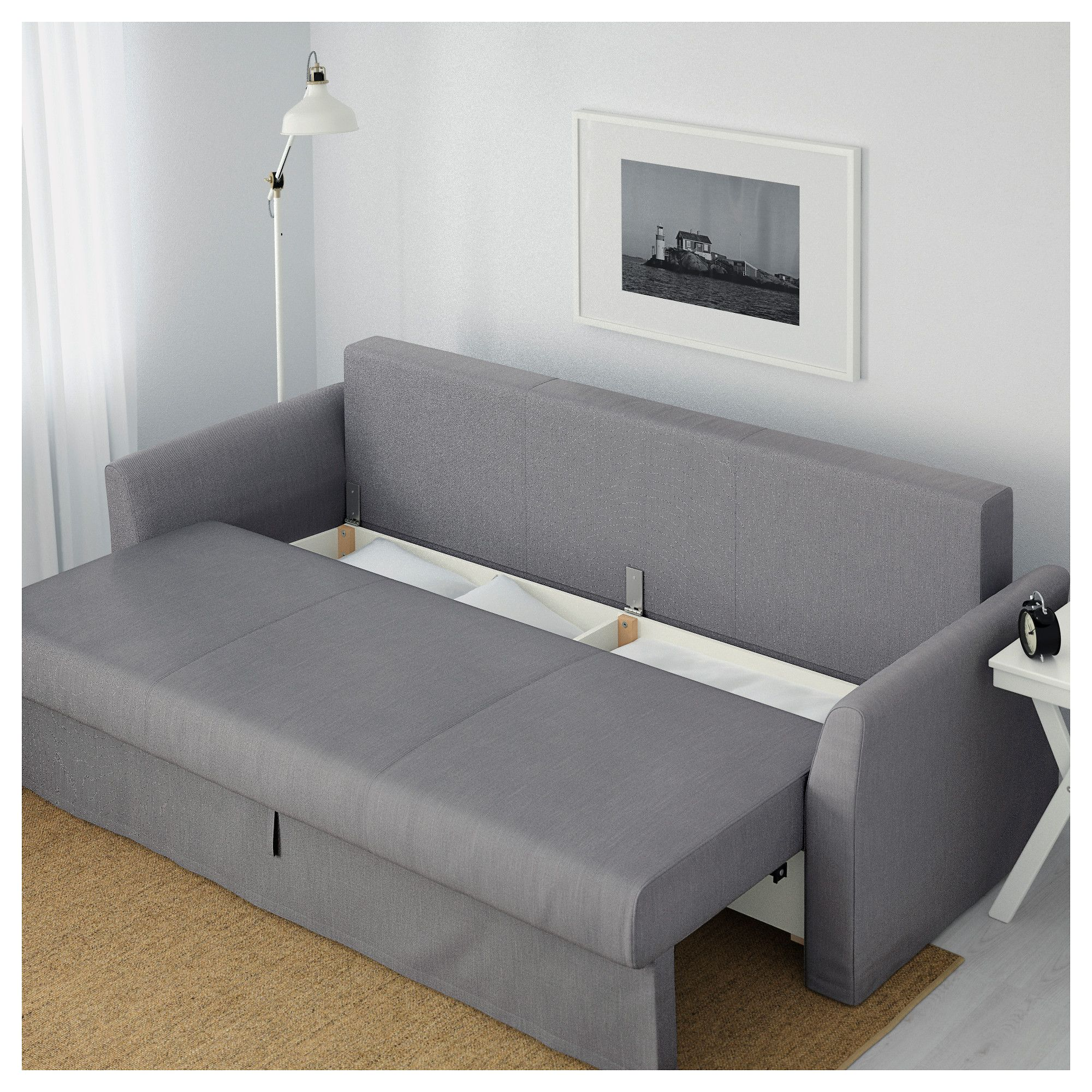 ikea holmsund sofa bed nordvalla medium gray sofa pinterest sofa sleeper sofa and sofa bed. Black Bedroom Furniture Sets. Home Design Ideas