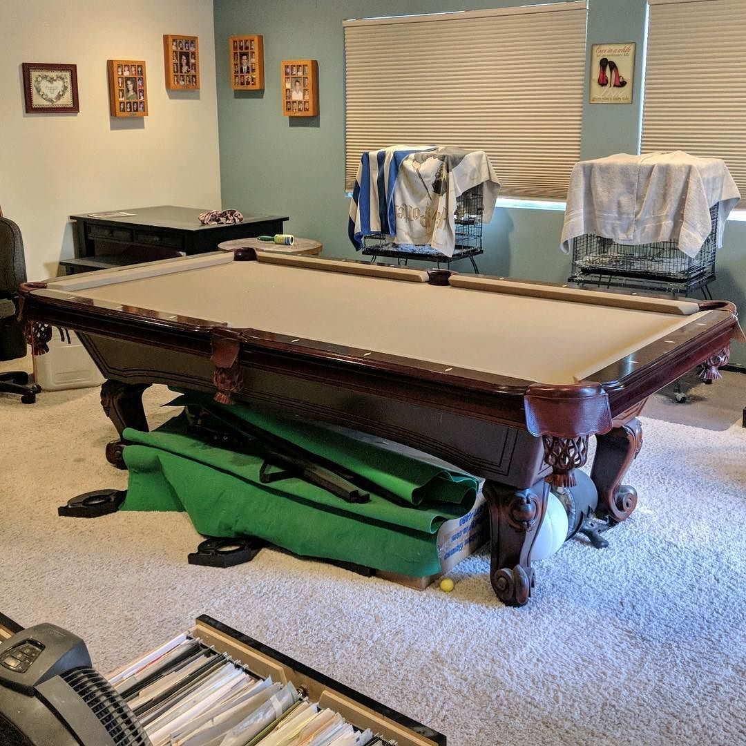 Just Starting To Disassemble This Ft Import Pool Table In Mission - Move my pool table