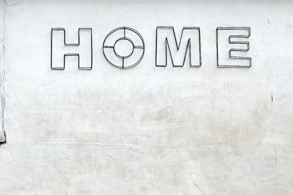Sign Home Letters Bent And Welded Out Of Wire For Your Wall Or