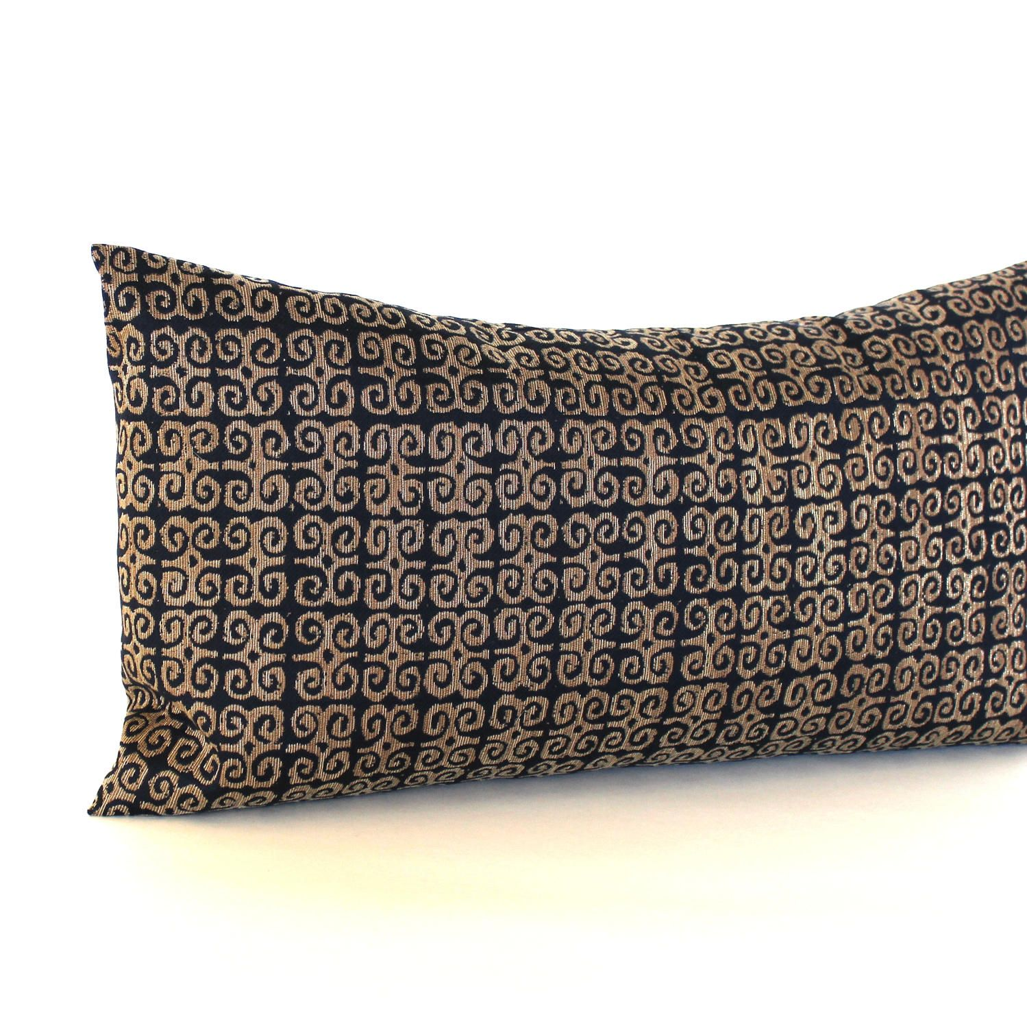 Throw Pillow Cover Fabric : Lumbar Pillow Cover Black Bronze Throw Pillow Cover Medallion Upholstery Fabric Oblong ...