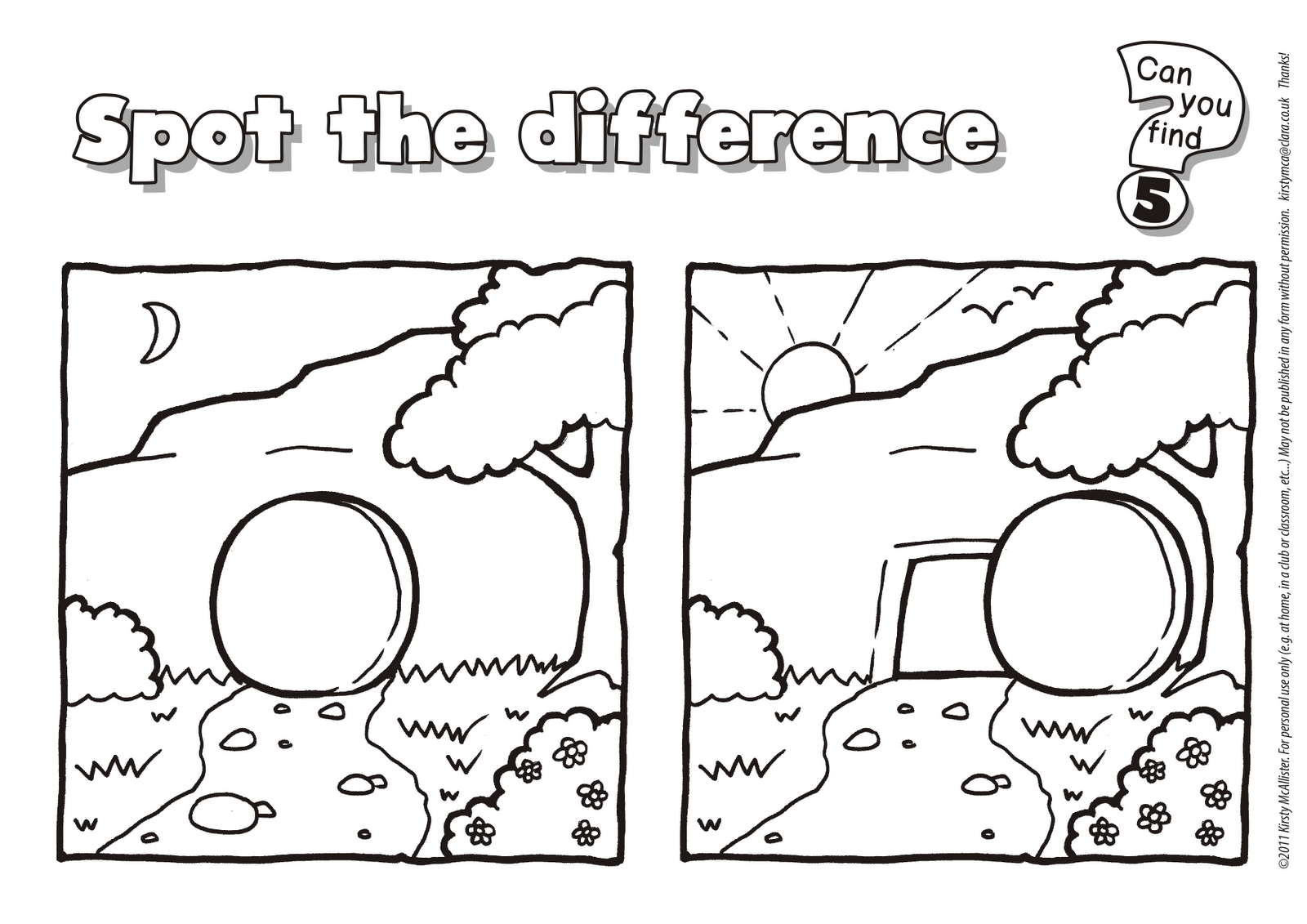 Spot The Difference Bible Free Printables