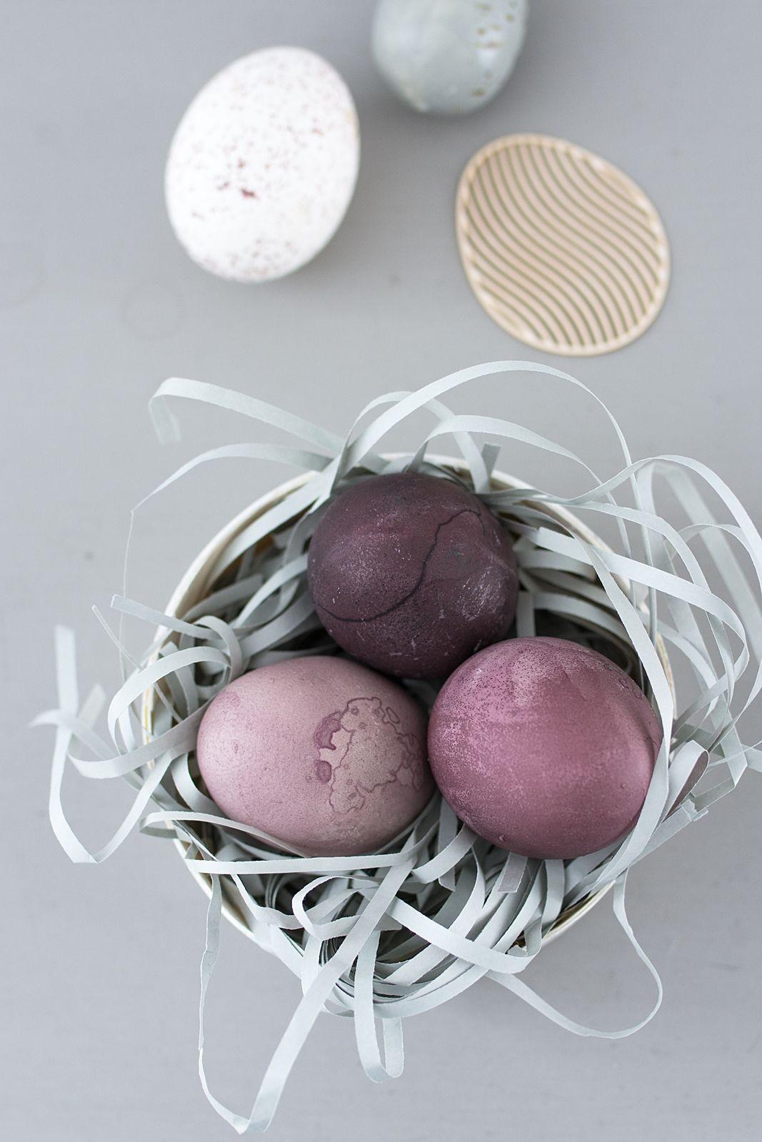 Oster-Deko-Tipp: Eier mit Holundersaft färben | Sinnenrausch - Der ...