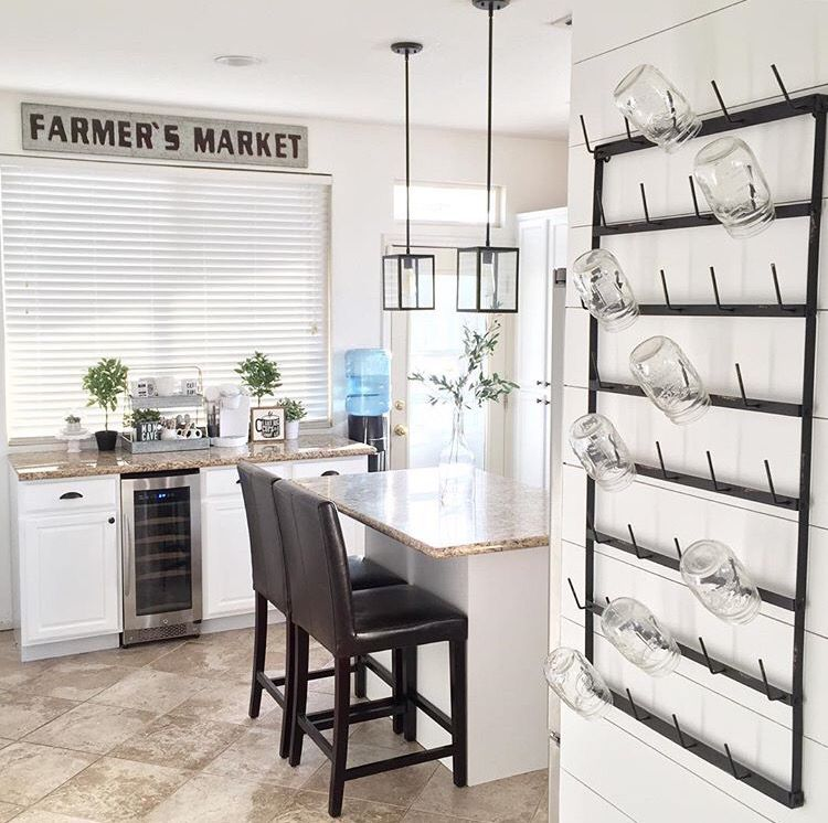 @Decorsteals  Farmers Market Sign And Wall Mount Cup Rack
