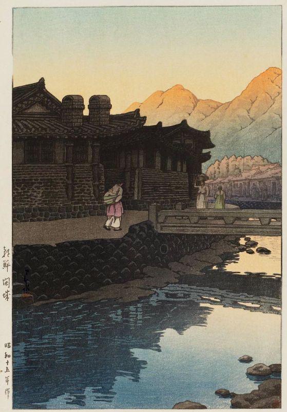 Корея в рисунках Кавасэ Хасуи