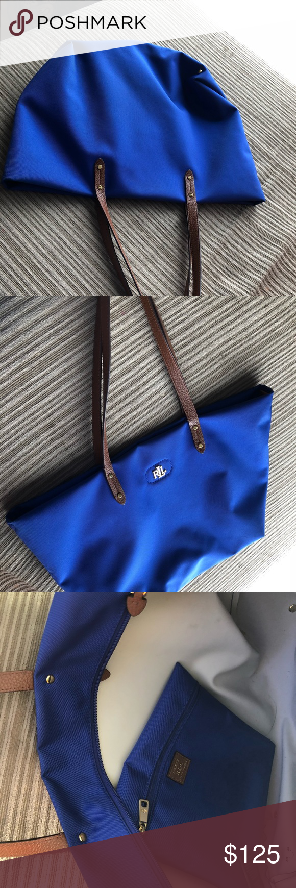 912606045e 🚨Sale🚨RLL Tote Bag Royal Blue color Beautiful Tote RLL Ralph Lauren Bags  Totes