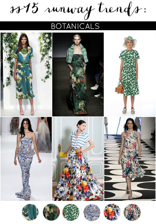 Runway to Real Way: SS15 Fashion Trends [Botanicals]