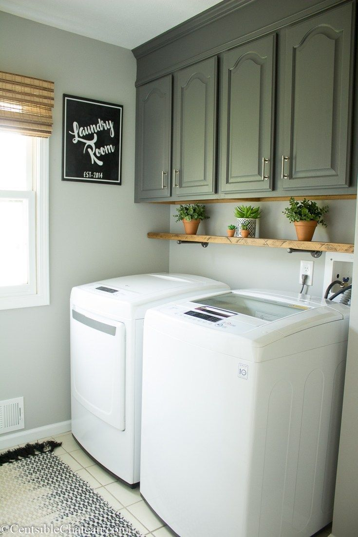 I Love My New Farmhouse Laundry Room (but I Still Hate Laundry)! - Centsible Chateau #laundryrooms