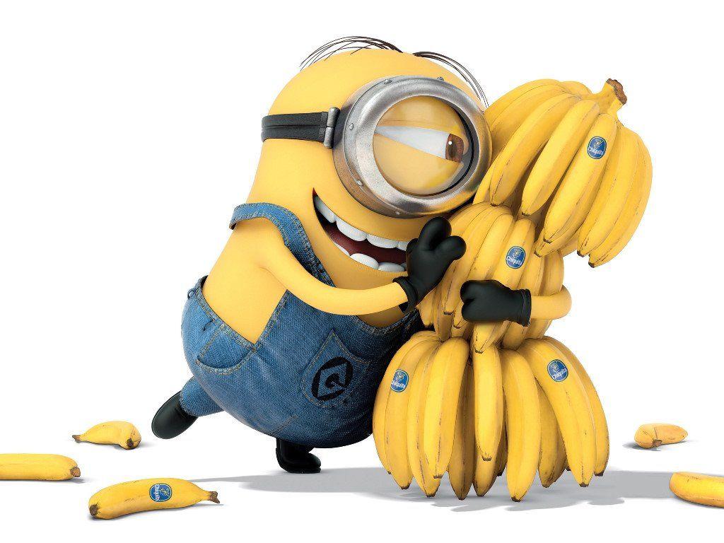 Cartoons Wallpaper Minion Bananas Papel De Parede Minions