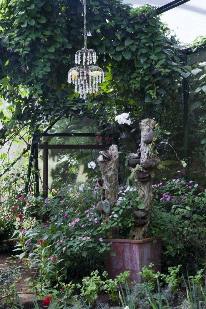 Deko Garten Leuchter Blumen