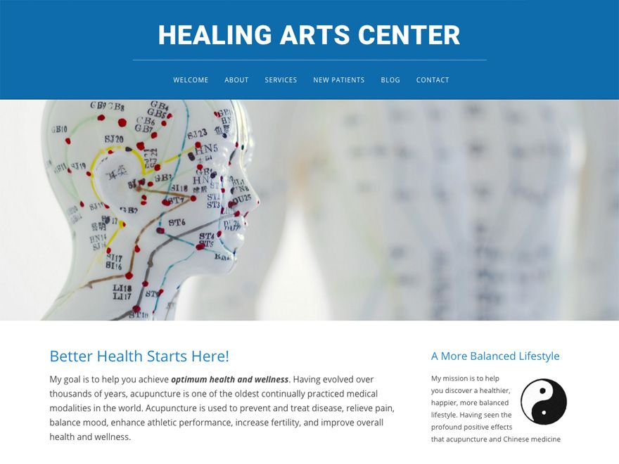 Picture Perfect Mobile Friendly Acupuncture Website Design 00071 Website Design Design Healing Arts