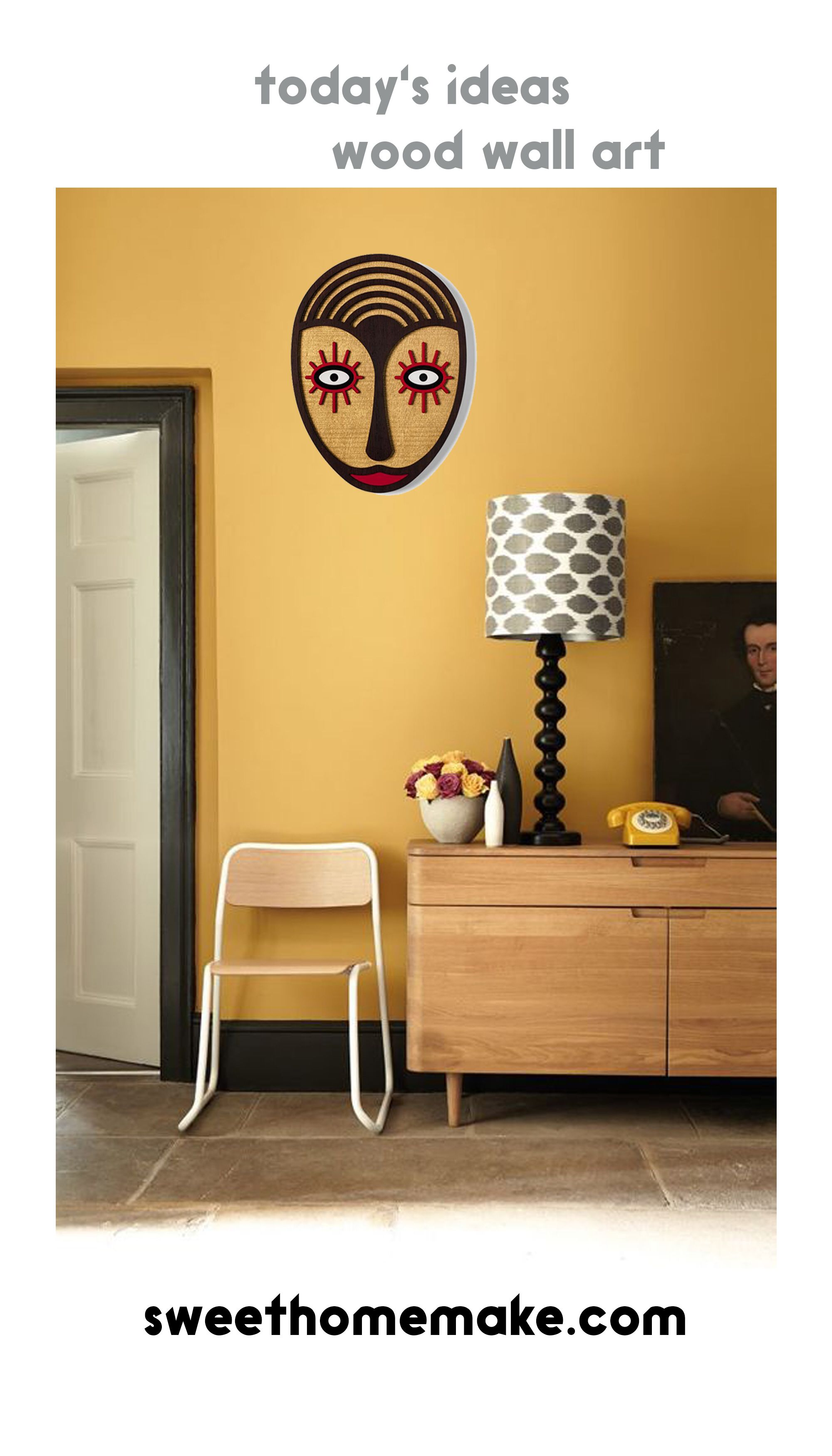 Yellow And Orange Eye Details Abstract Faces Wood Wall Art Artofit