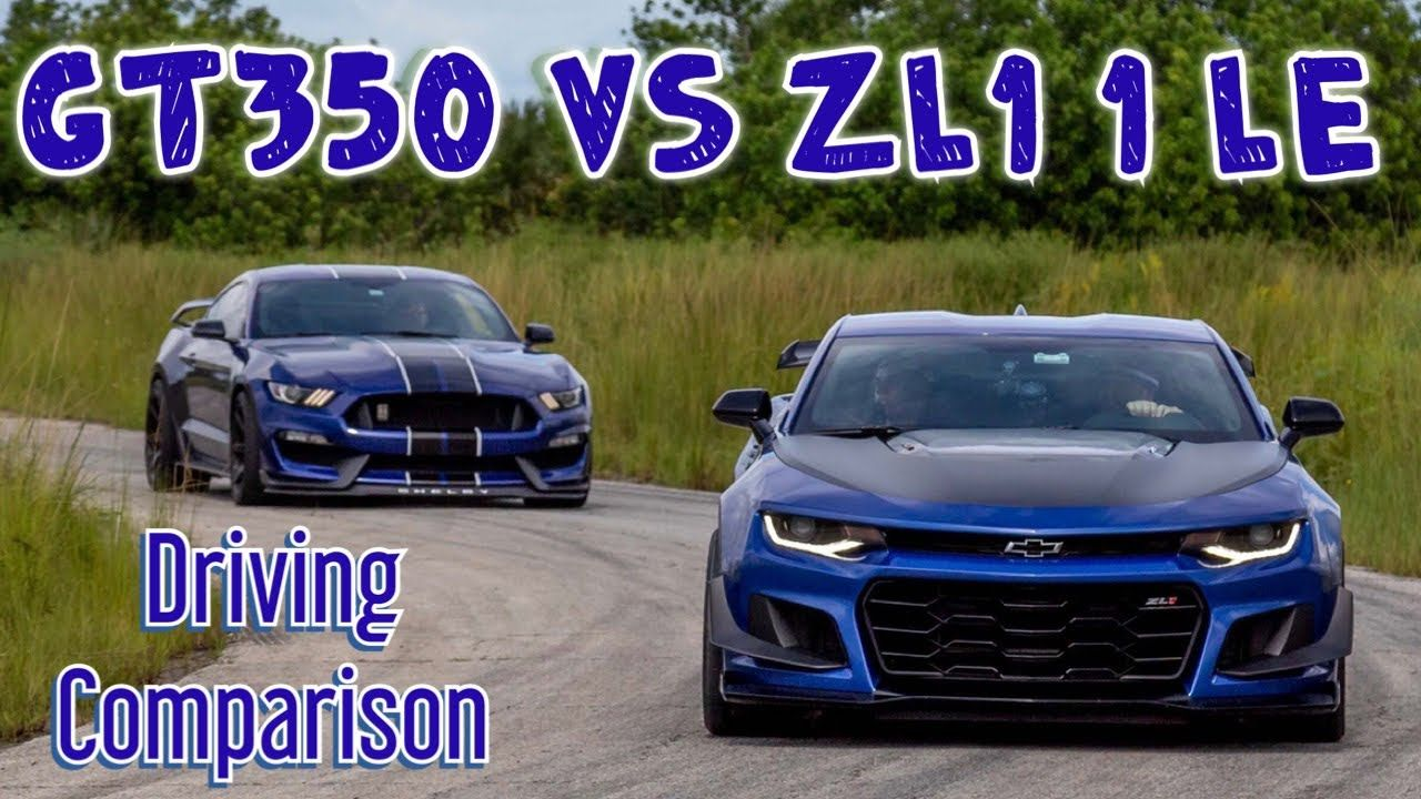 Gt350 Vs Zl1 1le Driving Comparison Youtube 2019 Camaro